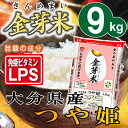 金芽米 大分県産つや姫9kg【4.5kg×2袋】【送料込】【上質な甘みで人気の金芽米】【とがずに炊け