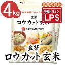白米感覚で食べる玄米金芽ロウカット玄米4kg【2kg×2袋・送料込】※無洗米・LPS(リポポ