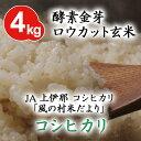 ショッピング金芽米 酵素金芽ロウカット玄米JA上伊那 コシヒカリ 「風の村米だより」4kg【送料込】有機質肥料「米の精」使用免疫ビタミンと言われるLPS(リポポリサッカライド)が豊富