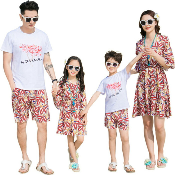 親子お揃い 親子カップル Tシャツ ショートズボン ワンピース 親子ペア 男の子/女の子/ママ/パパ 兄弟お揃い 姉妹お揃い ディースワンピース メンズTシャツ 大人用 子供用 夏服 記念撮影