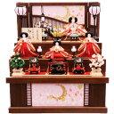 【雛人形】ベビーザらス限定 三段収納五人飾り 「月に桜格子」【送料無料】