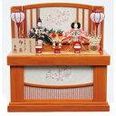 【雛人形】ベビーザらス限定 収納親王飾り「桜刺繍格子屏風けやき塗」【送料無料】
