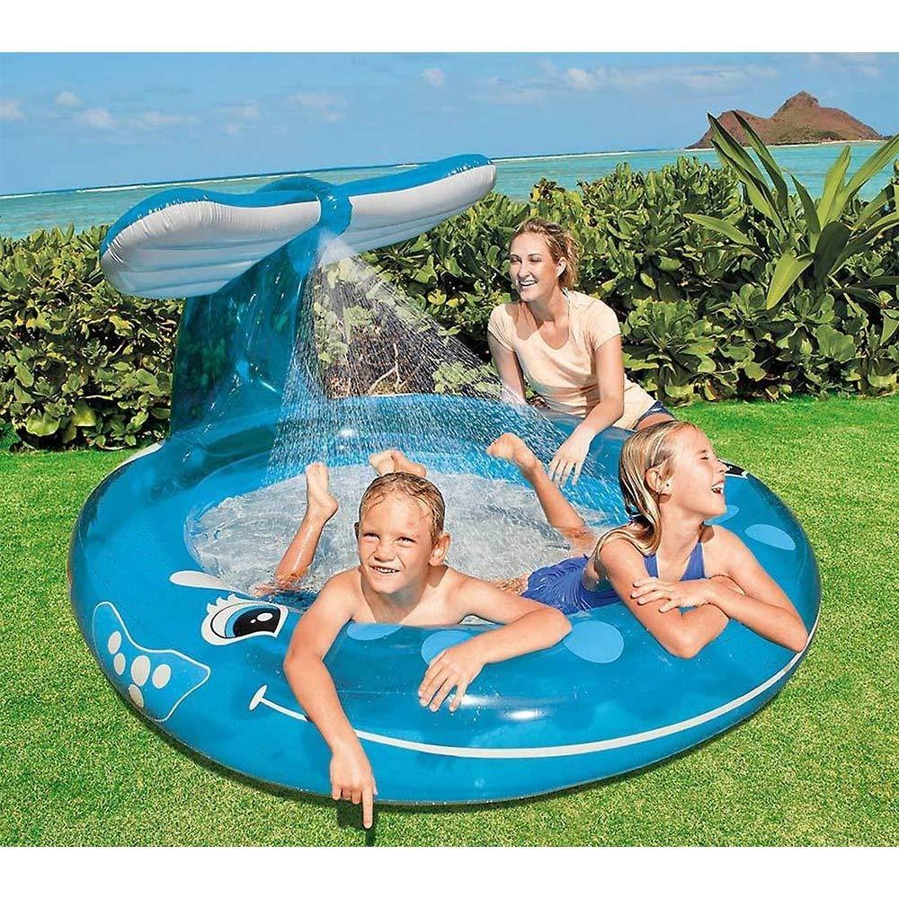 クジラの噴水つきプール 208×157cm【ビニールプール】