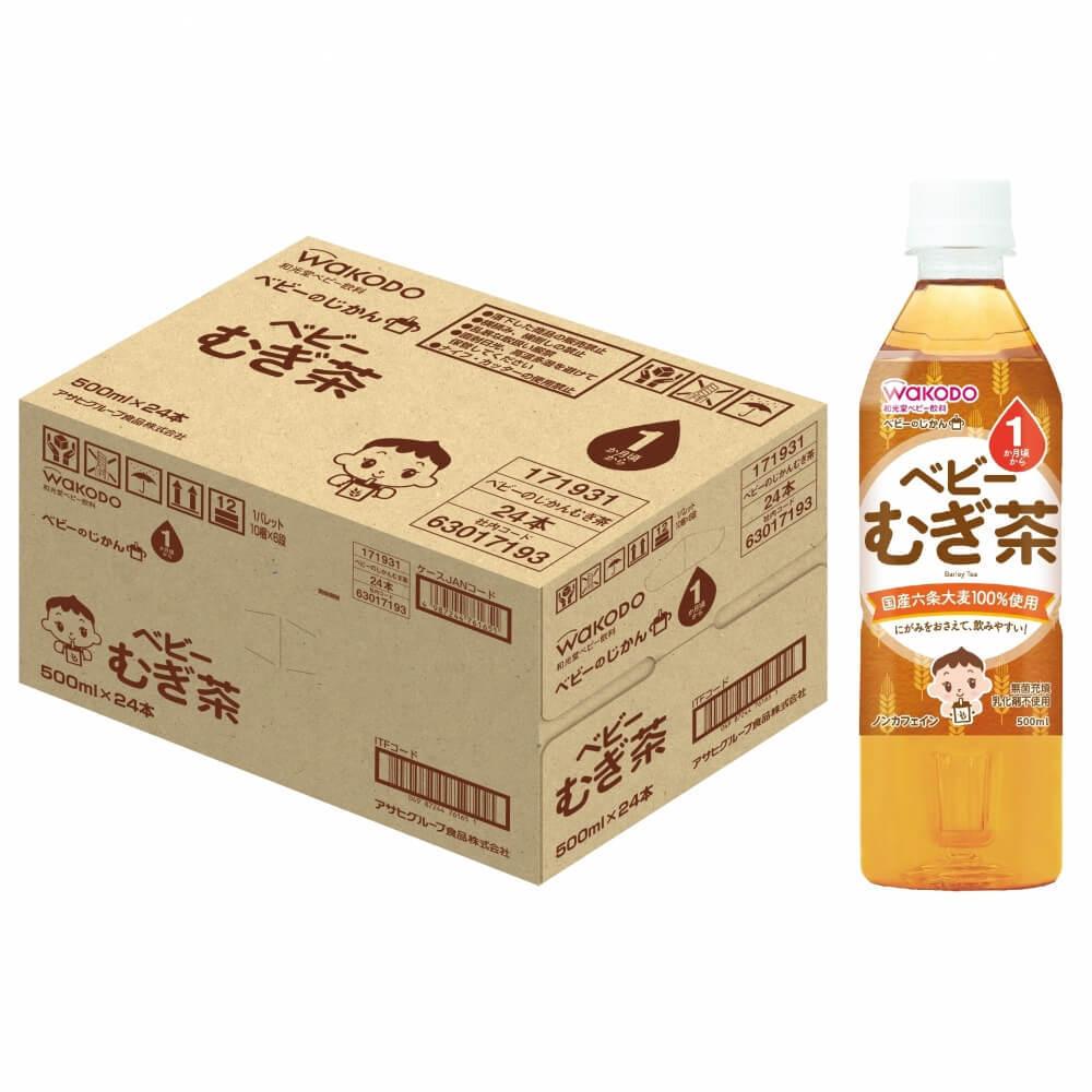 和光堂ベビーのじかんむぎ茶500ml×24本入り(ケース)