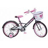 18インチ 子供用自転車 ハードキャンディージュエリー ブラック【女の子向け】
