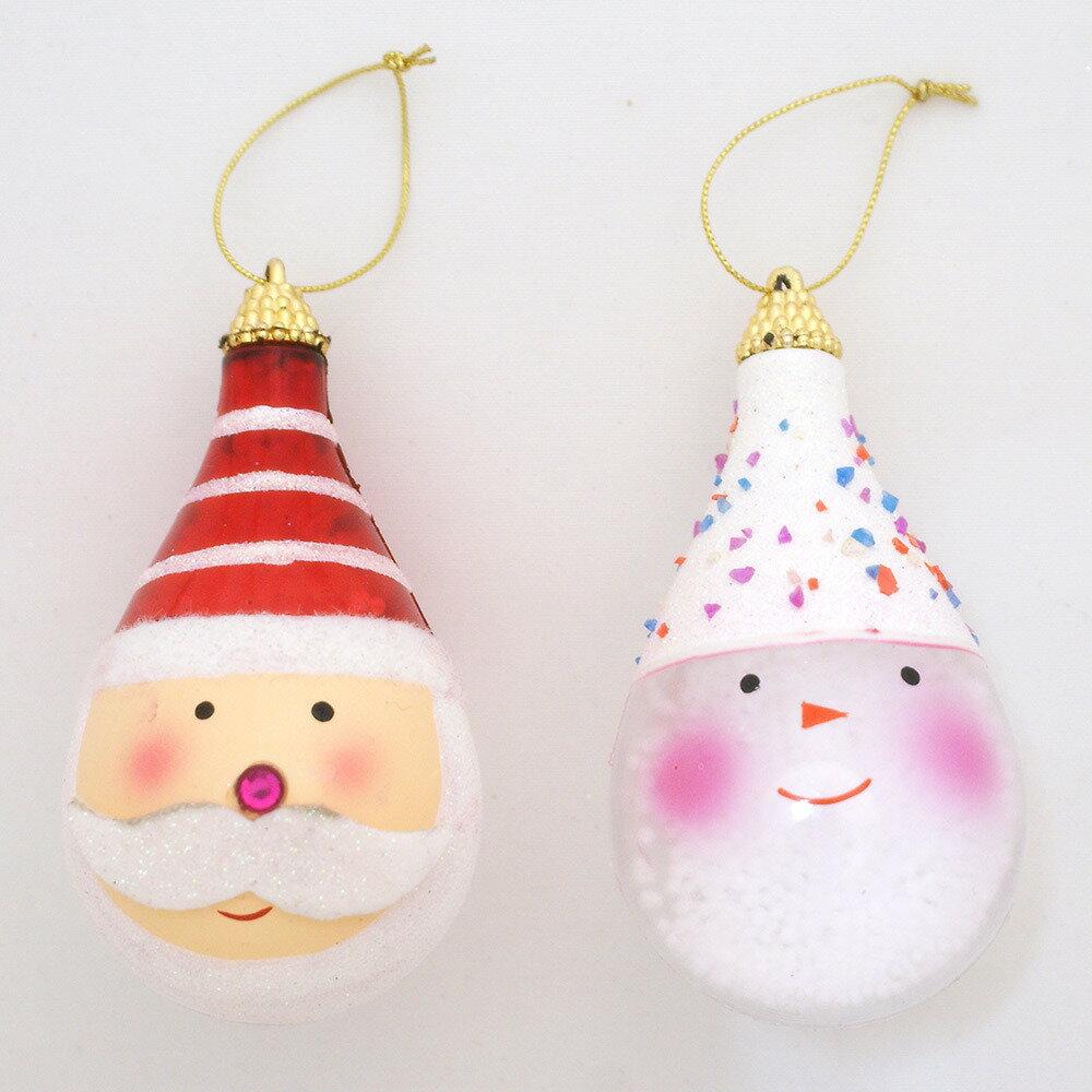 【クリスマス】トイザらス チアー! サンタ&スノーマンフェイス 2個