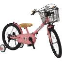 共伸びサイクル 18インチ 子供用自転車(ブルーミングピンク...