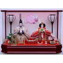 【雛人形】ベビーザらス限定 ケース親王飾り 雪輪うさぎワイン塗六角アクリル【送料無料】