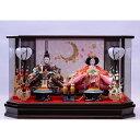 【雛人形】ベビーザらス限定 ケース親王飾り 月に桜刺繍格子六角アクリル【送料無料】