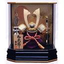 【五月人形】ベビーザらス限定 兜ケース飾り 「金彩松黒金六角...
