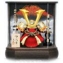 【五月人形】兜ケース飾り「赤富士六角アクリル」【送料無料】