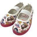 ディズニー プリンセス 総柄 上履き 上靴 バレエシューズ(ピンク×17.0cm)