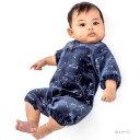ベビーザらス限定 長袖プレオール ベロア 星柄(ネイビー×50-60cm)