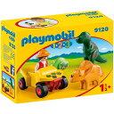 プレイモービル 09120「プレモ1・2・3」 冒険者と恐竜...