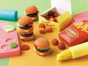 ショッピング工作 U2.2 ねんどであそぼうハンバーガー屋さんセット【粘土・想像力・知育玩具・工作・おもちゃ】