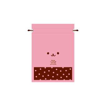 【ラッピング袋】【クリスマス】ウサコギフトバッグ(SSサイズ)【デコレーション うさぎ うさちゃん ピンク 顔柄 袋 プレゼント 用品 巾着 ラッピング 幼稚園 クリスマス会 かわいい 誕生日 ギフト 贈り物 ホワイトデー バレンタインデー 母の日】