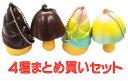 ショッピングスクイーズ きのこたけのこスクイーズBC2 4種セット【 おもちゃ キーホルダー スイーツ やわらかい 】