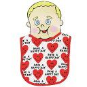 ショッピングHEARTS 【メール便可】BABY BIB HEART SMILE RED【 赤ちゃん 赤ん坊 よだれかけ 綿素材 雑貨 日用品 】