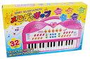 エレクトリックピアノ メロディポップ 32KEY【 おもちゃのピアノ 音楽 メロディ 電子 録音 再生 サウンド 演奏 ミュージック 楽器 女の子 人気 キーボード ピンク色 】