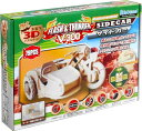 ショッピングラジコン 動く木製3Dパズルキット V300サイドカー【79PCS】【木製 木のおもちゃ 組立玩具 RC ラジコン 車 インテリア 置物】