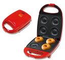 ふっくら焼きドーナツメーカー(Donut Maker)RED【 ドーナツ焼き器 ドーナッツメーカー ヘルシー お菓子 おやつ フッ素樹脂加工 】