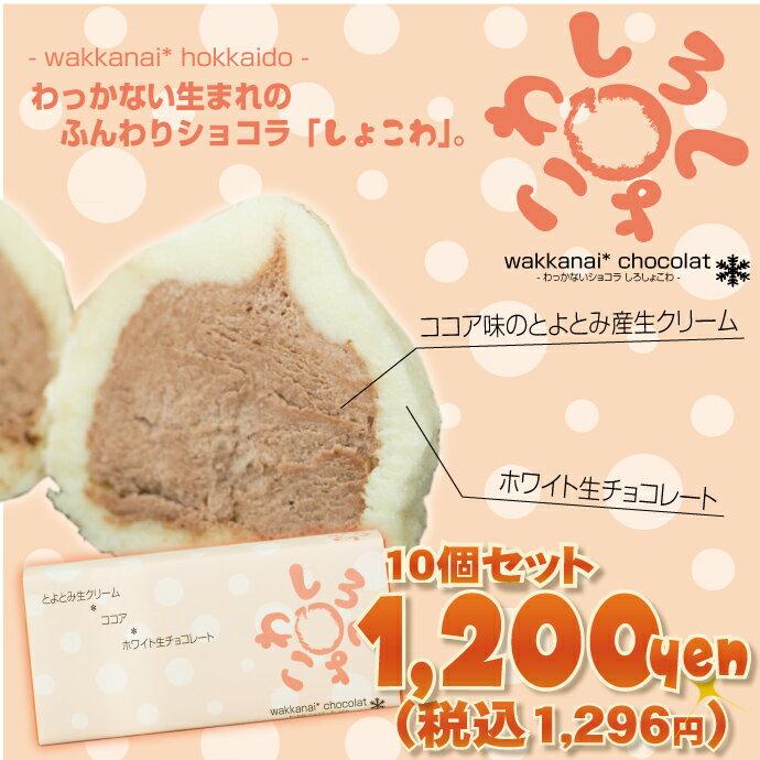わっかないうまれのふんわりショコラしろしょこわ10個セット生チョコギフト(お菓子洋菓子チョコレート生