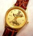 文字盤24金仕上げミッキーマウス腕時計