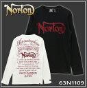Norton ノートン 服 63N1109 長袖 Tシャツ ロンT ロゴ 刺繍 ワッペン プリント 02/09 メンズ 2016AW