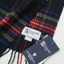 ショッピングジョンストンズ ■未使用品■スコットランド製 Johnstons ジョンストンズ カシミヤ100% ストール ブラックスチュワート Black Stewart タータンチェック ショール マフラー 20210423/GH0940