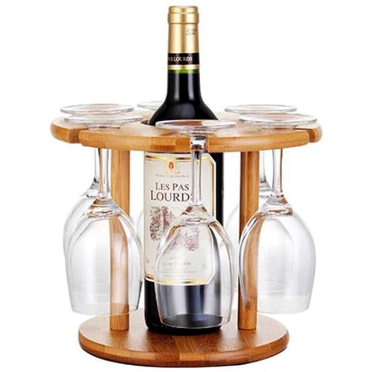 Anberotta 木製ワイングラスホルダー