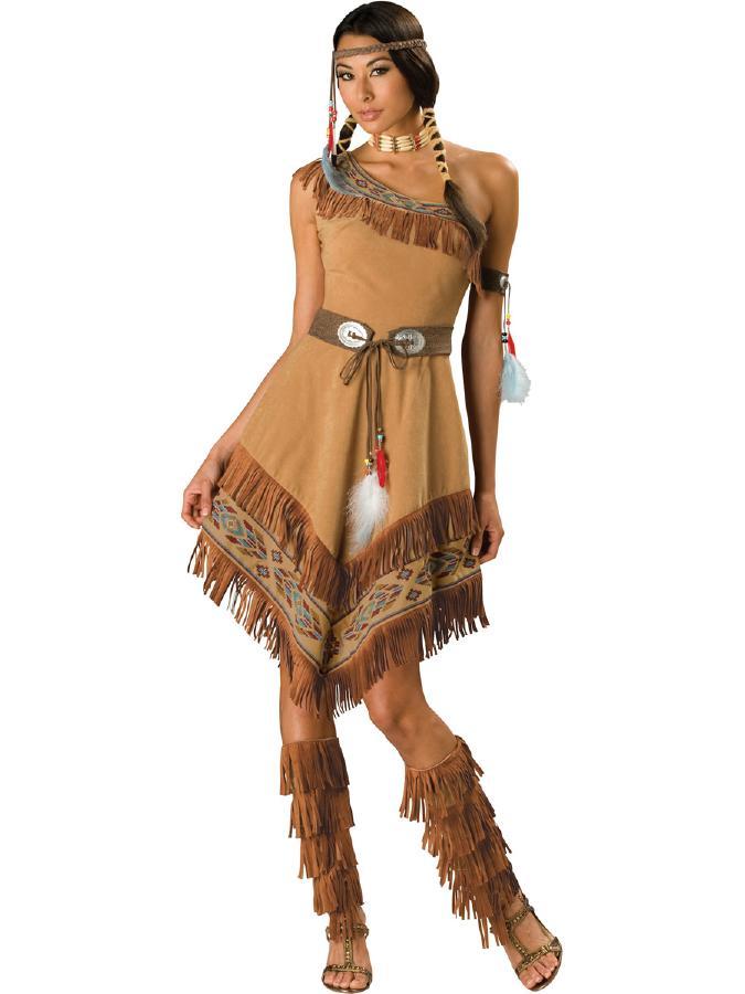 キュートなインディアンコスチューム コスプレ衣装 (二次会、結婚式、仮装、パーティー、宴会、舞台、演劇、ハロウィン) 女性 大人用02P03Sep16