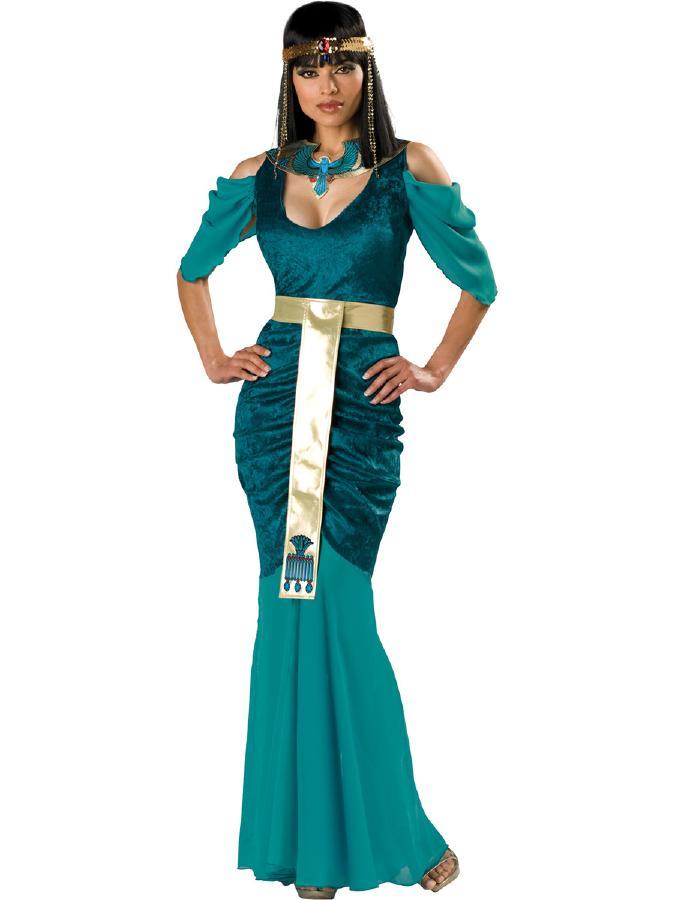 エジプトの宝石! クレオパトラコスチューム 4ピースセット コスプレ衣装 (二次会、結婚式、仮装、パーティー、宴会、ハロウィン) 女性 大人用
