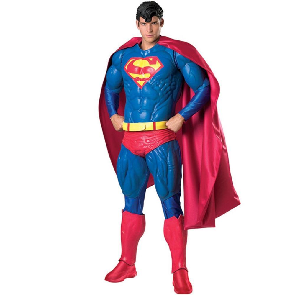 スーパーマンのコスチューム保存版9点セット大人用 コスチューム コスプレ衣装 (二次会、結婚式、仮装、パーティー、宴会、舞台、演劇、ハロウィン、大きいサイズ)大人用 男性