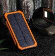 ソーラー 充電 モバイル 充電器 スマホ 15000mAh 2ポート 同時充電 大容量バッテリー ソーラーパネル アウトドア キャンプ 登山 災害 緊急 LEDライト 送料料無料