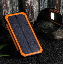 ソーラー 充電 モバイル 充電器 スマホ 15000mAh 2ポート 同時充電 ポケモンGoにおすすめ 大容量バッテリー ソーラーパネル アウトドア キャンプ 登山 災害 緊急 LEDライト 送料無料