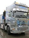 【予約】2017年10-12月以降発売予定Weber, Viktor Scaniaスカニア R6 Topline with HIAB heavy crane flat trailer トラック Teknoテクノ 建設機械模型 工事車両 1/50 ミニチュア