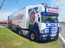【予約】2017年6-8月以降発売予定Scheufler Scaniaスカニア 4-serie Topline リーファートレーラー Teknoテクノ 建設機械模型 工事車両 1/50 ミニチュア