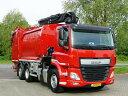【予約】2017年10-12月以降発売予定Gemeente Groningen DAF CF trash truck funnel / crane トラック Teknoテクノ 建設機械模型 工事車両 1/50 ミニチュア
