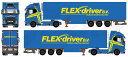 【予約】2017年8-10月以降発売予定Flex driver Volvo FH04 Globetrotter XL リーファー セミトレーラートラック Teknoテクノ 建設機械模型 工事車両 1/50 ミニチュア