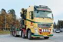 【予約】4-6月以降発売予定Wiklunds Akeri AB Volvoボルボ FH4 Globetrotter Riged Flatbed Truck + Palfinger 15000.2 + Jib トラック /WSI 建設機械模型 工事車両 1/50 ミニチュア