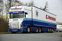 【予約】10-12月以降発売予定G. Persoon Scaniaスカニア R Streamline Topline リーファートレーラー Carrier 3軸トラック 建設機械模型 工事車両 WSI 1/50 ミニチュア