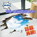 【ウォールステッカー】空 雲 床 トリックアート 立体 フェイスブック ブログ 騙し絵 カフェ 風景
