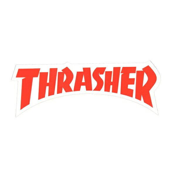 THRASHER スラッシャー Die Cut Logo ステッカー RED USA企画