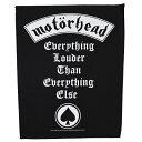 MOTORHEAD モーターヘッド Everything Louder Than Everything Else バックパッチ