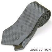 LOUIS VUITTON(ルイ・ヴィトン)/ネクタイ/クラヴァット・プティ ダミエ/M74030/アントラシット/チャコールグレー/シルク100%【neck-tie】
