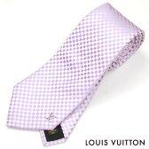 LOUIS VUITTON(ルイ・ヴィトン)/ネクタイ/クラヴァット・プティ ダミエ/ラベンダー/パープル/シルク100%【neck-tie】