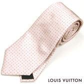 LOUIS VUITTON(ルイ・ヴィトン)/ネクタイ/クラヴァット・モノグラム ポイント/ドット/ピンク/シルク100%【20P01Oct16】