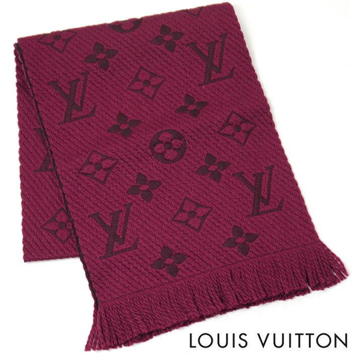 【訳あり】ルイヴィトン LOUIS VUITTON マフラー ルイ ヴィトン LV エシャルプ ロゴマニア レディース ストール ルイ ヴィトン M75503 スリーズ パープル