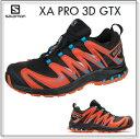 【SALE】サロモンXA PRO 3D ゴアテックス メンズブラック/トマトレッドトレイルランニング用