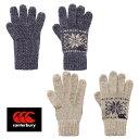 【メール便選択可】canterbury WOOL GLOVES AA06866 ウールグローブ カンタベリー 手袋